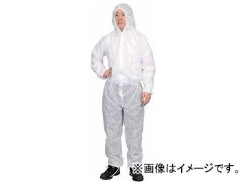 トラスコ中山 保護服(1層タイプ) Lサイズ TPSB-L(7672306) 入数:1箱(50着)