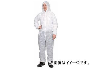 トラスコ中山 保護服(1層タイプ) XLサイズ TPSB-XL(7630379) 入数:1箱(50着)