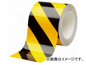 ミドリ安全 ベルデビバハードテープ トラ 100mm×20m VHT-100-Y/BK(7540027)