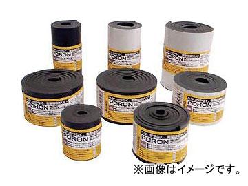 イノアック マイクロセルウレタンPORON 黒 10×100mm×7m巻 L24T-10100-7M(8184109)