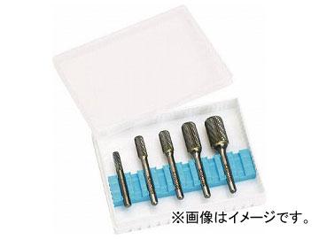 スーパー スーパー超硬バーセット 6ミリ(ダブルカット)円筒コーナーR刃型 SB6CRSH(8192243) 入数:1セット(5本)