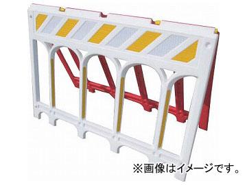 仙台銘板 ネオスーパーバリ オレンジ白 A型バリケード 3191200(8185549)