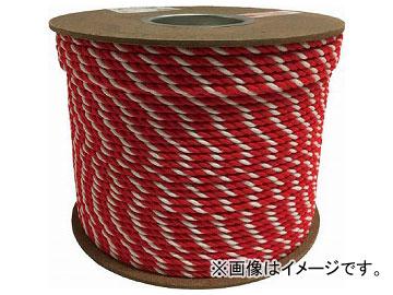 ユタカ アクリル紅白ロープ 6mm×200m PRZ-10(7948051)