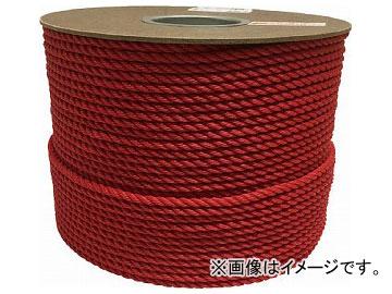ユタカ ポリエチレンロープドラム巻 6mm×200m レッド PRE-101(7947518)