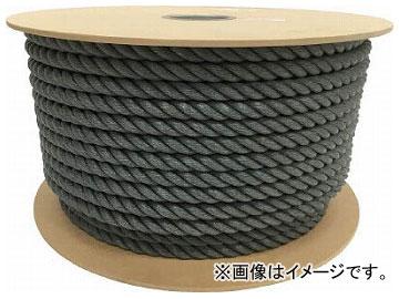 ユタカ ポリエチレンロープドラム巻 16mm×100m グレー PRE-168(7947577)