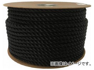 ユタカ ポリエチレンロープドラム巻 12mm×100m ブラック PRE-64(7947691)
