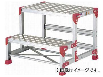 ピカ 作業台 ZG-P型縞板仕様 2段 幅55cm高さ50cm ZG-255P(7950659)