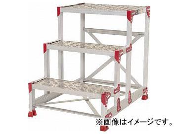 ピカ 作業台 ZG-P型縞板仕様 3段 幅60cm高さ75cm ZG-3675P(7950667)