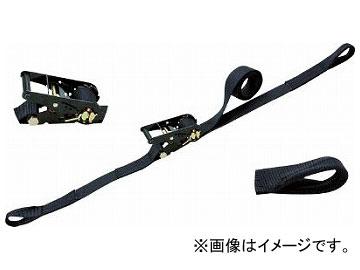 シライ ラチェットバックル 黒 両端アイ形 RE50LB6(7931719)