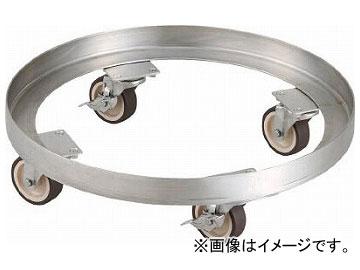 トラスコ中山 SUS304 A型ドラム缶台車 200L ステン金具 NU車輪 SDA-200-SNU(8185155)