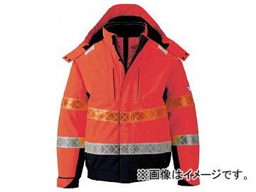 ジーベック 802 高視認防水防寒ブルゾン LL オレンジ 802-82-LL(7996462)
