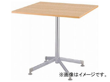 アイリスチトセ リフレッシュテーブル フーク 十字脚 750×750 ナチュラル CFKTT7575G-NA(7902271)