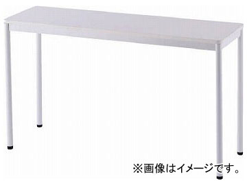 アールエフヤマカワ RFシンプルテーブル W1200×D400 ホワイト RFSPT-1240WH(8195196)