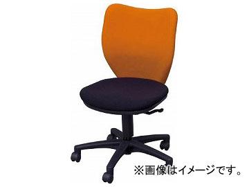 アイリスチトセ オフィスチェア ミドルバックタイプ オレンジ・ブラック BIT-BX45-L0-F-OGBK(7902034)