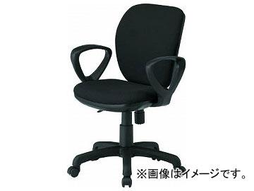 TOKIO オフィスチェア ループ肘付 ブラック FST-77A-BK(8184958)