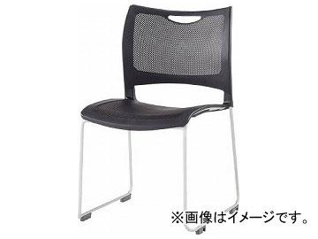 アイリスチトセ ミーティングチェア 背・座メッシュ樹脂タイプ ブラック MC-MKT01-BK(8196049)