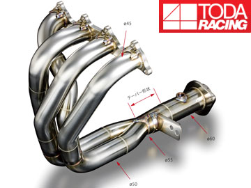 戸田レーシング/TODA RACING エキゾーストマニフォールド Ver.2(4-2-1 SUS) 18100-DC2-961 インテグラ typeR 96spec DC2/DB8 B18C