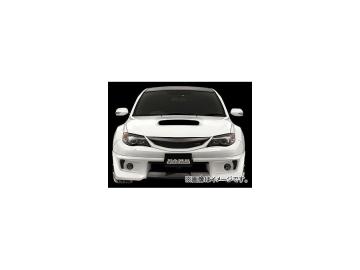 ダムド Styling Effect フロントグリル カーボン×純正色塗装済み スバル インプレッサ WRX STI CBA-GRB 2007年10月~