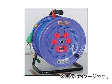 日動工業/NICHIDO カラードラム 100V 30m ポッキンプラグ・過負荷漏電保護兼用ブレーカ付 ブルー NFC-EK34-B JAN:4937305041222