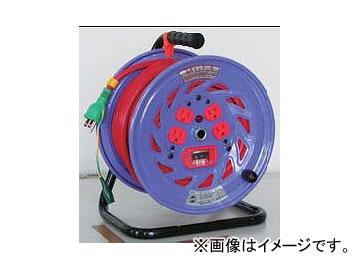 日動工業/NICHIDO カラードラム 100V 30m ポッキンプラグ・過負荷漏電保護兼用ブレーカ付 レッド NFC-EK34-R JAN:4937305041239