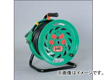 日動工業/NICHIDO 超高感度ブレーカー付ドラム 100V 標準型(屋内型)30mタイプ アース付 EKタイプ NFH-EK34 JAN:4937305033289