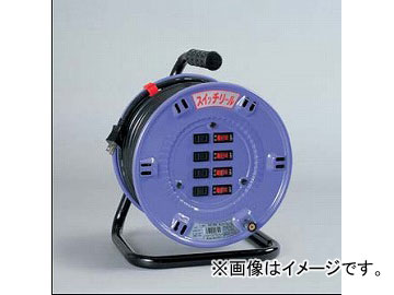 日動工業/NICHIDO スイッチリール(屋内型) 100V 30mタイプ アース無 SW-304 JAN:4937305032350