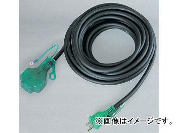 日動工業/NICHIDO 延長コード100V トリプルポッキンランプ/アース付 VCT2.0mm2 黒 10m LPPT-10E JAN:4937305010815