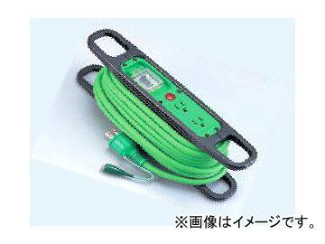 日動工業/NICHIDO ハンドリール(簡易巻取りリール) 漏電保護用/アース付 ソフト電源 10m HR-EB102-緑 JAN:4937305011867
