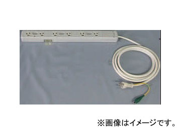 日動工業/NICHIDO プラグインライト用タップ コンセント6個タイプ PIL-6TAP 入数:1本