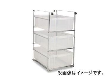 テラモト/TERAMOTO コンテナ付ホルダー3段(UF多分別回収カート用) DS-579-051-0 JAN:4904771895703