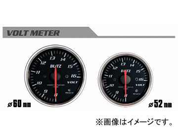ブリッツ/BLITZ レーシングメーターSD φ52 VOLT METER 8~16 単位 V(電気式) No.19577
