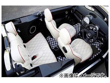 ELDINE 3D構造マット「ソリード」 MINI専用タイプ 品番:3600 カラー:ホワイト×ブラック,ブルー×ブラック,レッド×ブラック ミニ R56/R57 2007年02月~