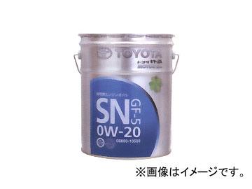 純正トヨタ キャッスル ガソリンエンジンオイル SN GF-5 0W-20 08880-10503 入数:20L×1缶