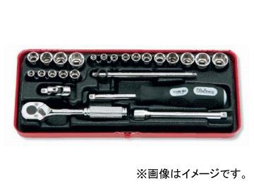 """コーケン/Koken 1/4""""(6.35mm) ソケットセット 25ヶ組 2201AM"""