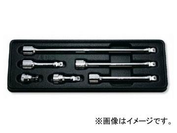 """コーケン/Koken 3/8""""(9.5mm) オフセットエクステンションバーセット 6ヶ組 PK3763/6"""