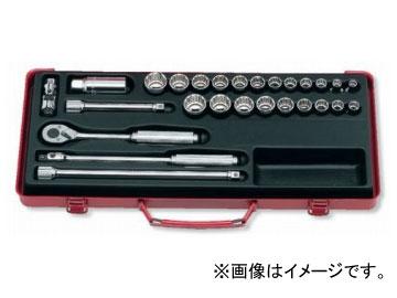 """コーケン/Koken 3/8""""(9.5mm) ソケットセット 27ヶ組 3206AM"""