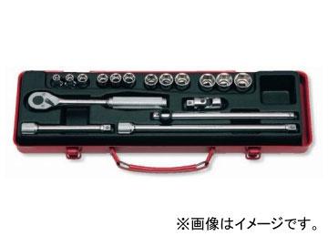 """コーケン/Koken 3/8""""(9.5mm) ソケットセット 17ヶ組 3250M"""