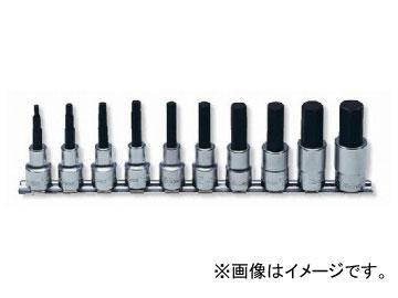 """コーケン/Koken 1/2""""(12.7mm) ヘックスビットソケット レールセット 10ヶ組 RS4010M/10-L75"""