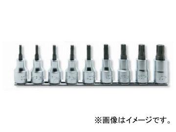 """コーケン/Koken 1/2""""(12.7mm) トルクスプラスビットソケット レールセット 9ヶ組 RS4025/9-IP"""