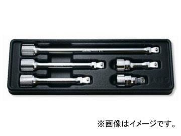 """コーケン/Koken 1/2""""(12.7mm) オフセットエクステンションバーセット 5ヶ組 PK4763/5"""