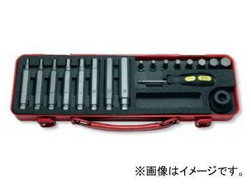 """コーケン/Koken 1/2""""(12.7mm) ヘックスビットソケットセット 18ヶ組 14204M"""
