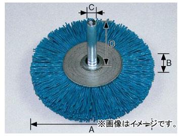 柳瀬/YANASE 軸付ホイールブラシ ユニロングリット 38×10×6×35 #180 BGF-408 入数:5個