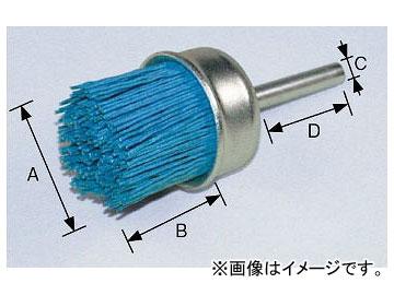 柳瀬/YANASE 軸付カップブラシ ユニロングリット 75×20×6×35 #180 BGC-758 入数:5個