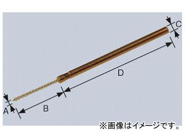 柳瀬/YANASE ミニ軸付ネジリブラシ ユニロングリット 1×20×3×50 BMNG-0103 入数:10個