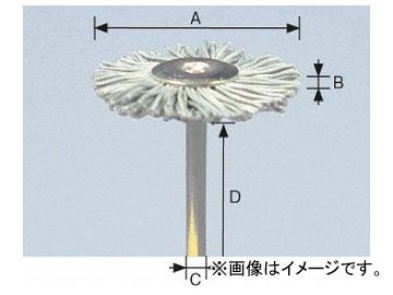 柳瀬/YANASE 精密ブラシ 砥粒入りユニロン ホイール型 25×7×3×40 B25HK 入数:10個