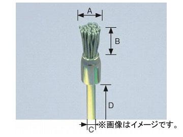 柳瀬/YANASE 精密ブラシ 砥粒入りユニロン エンド型 10×12×3×36 B10EK 入数:10個