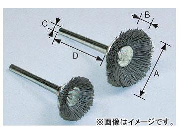 柳瀬/YANASE 精密ブラシ 砥粒入りユニロン ベベル型 19×8×3×30 BGB19 入数:5個
