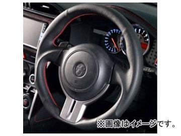 ダムド スポーツステアリング SS358-Z〈86/BRZ専用〉 黒革×赤ステッチ トヨタ 86 ZN6 2012年~