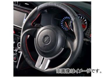ダムド スポーツステアリング SS358-Z〈86/BRZ専用〉 黒革×赤ステッチ×ブラックカーボン トヨタ 86 ZN6 2012年~