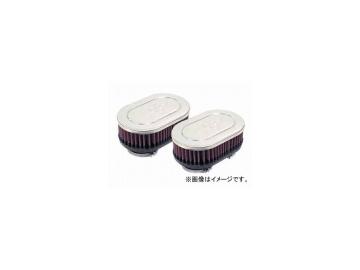 2輪 K&N デュアルフランジオーバル/クローム 品番:RC-2222 JAN:4520616222048